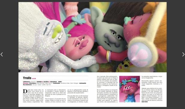 revista contraste pelicula trolls