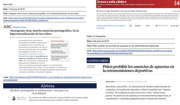 Impactes a premsa