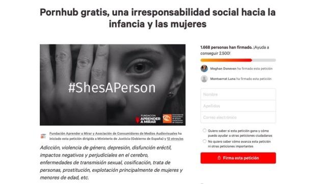 #ShesAPerson Petició
