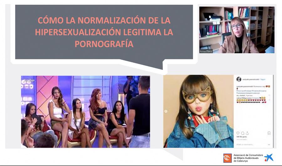 Ponencia Anna Plans: Com la normalització de la hipersexualització legitima la pornografía
