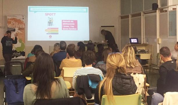 Taller organitzat amb el Centre de Prevenció i Tractament de Drogodependències SPOTT, realitzat a Vilanova del camí