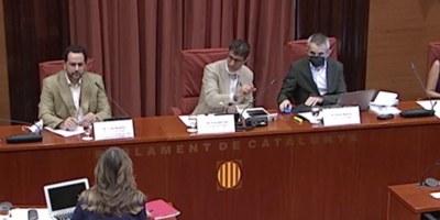 Luigi Bugalla al Parlament de Catalunya